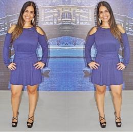 Vestido Camurcinha Azul