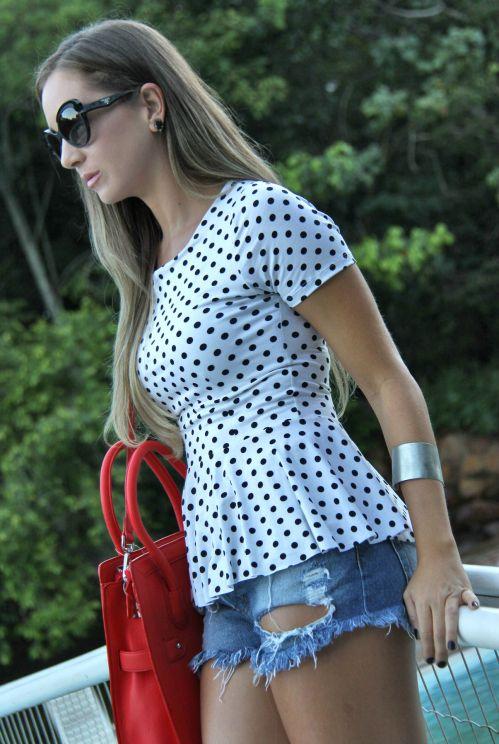 poa tendencia 2014 verão kju comprar online bolinhas preto e branco look